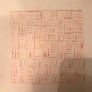 Tekening quilt ontwerp