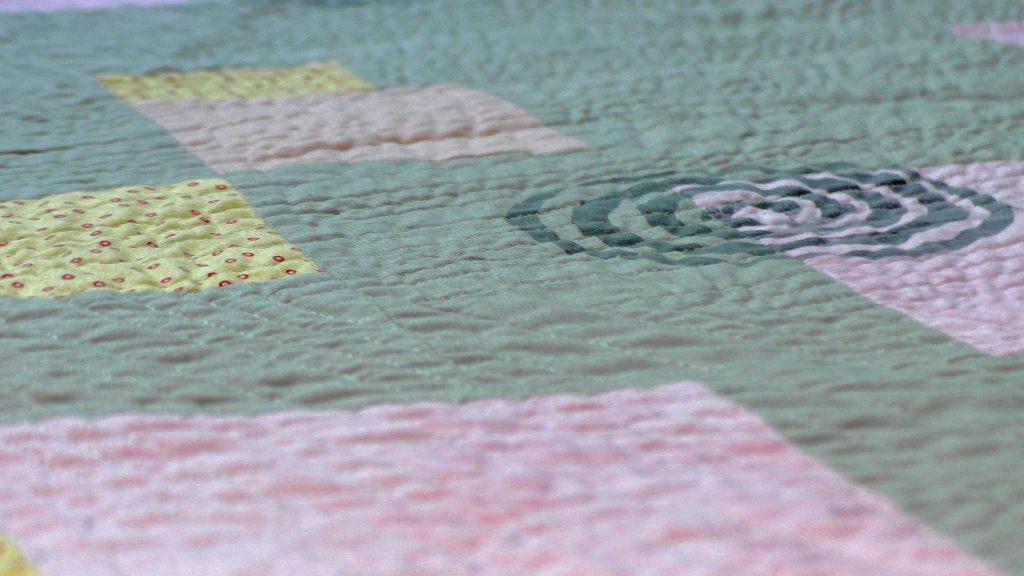 Dancing Spirals quilt - detail