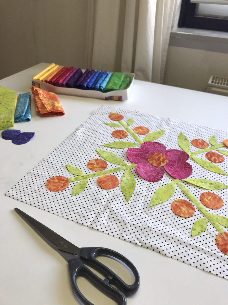 Applicaties Summertime quilt maken