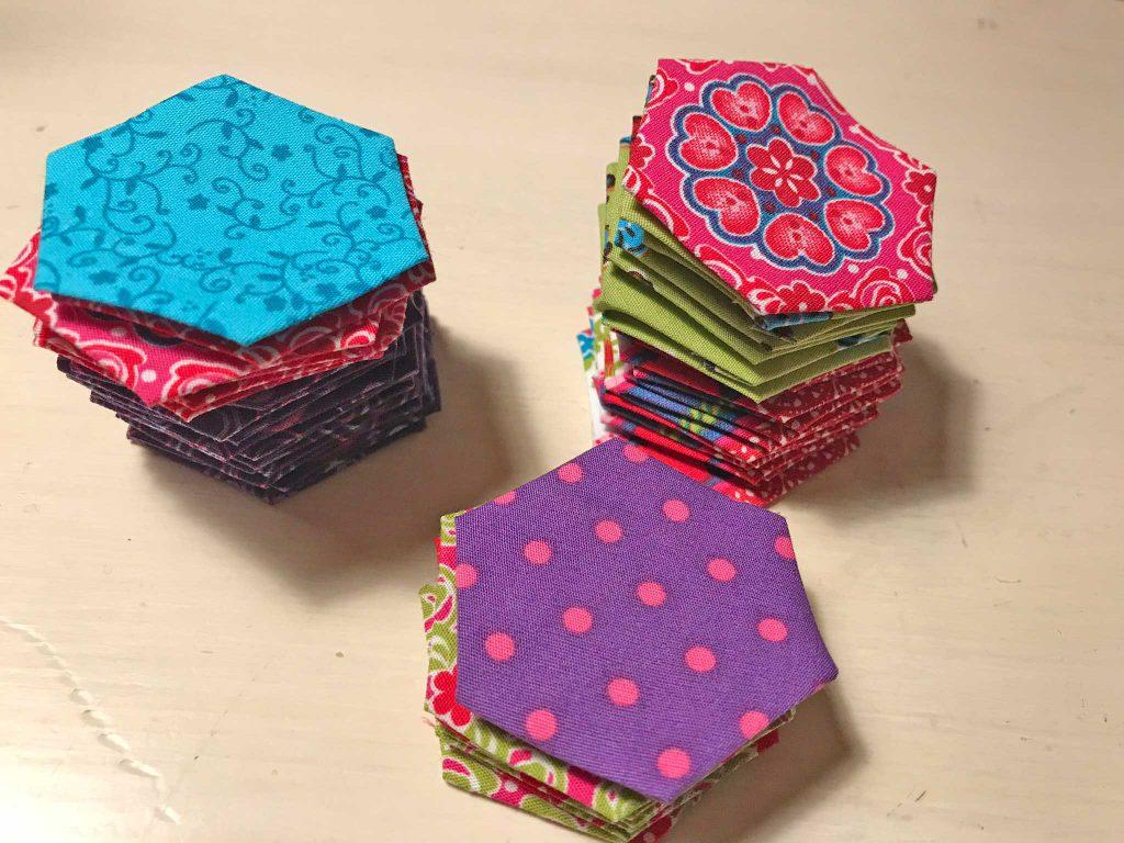 Hexagonnetjes voorbereiden