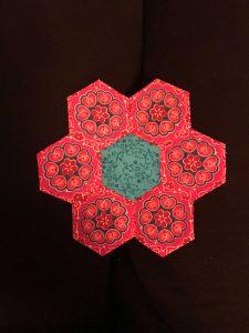 Hexagonnetjes naaien