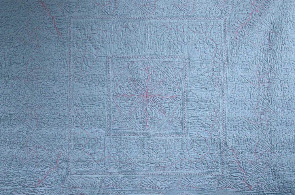 Achterkant quiltwerk Regenbooquilt - Marlies Mansveld