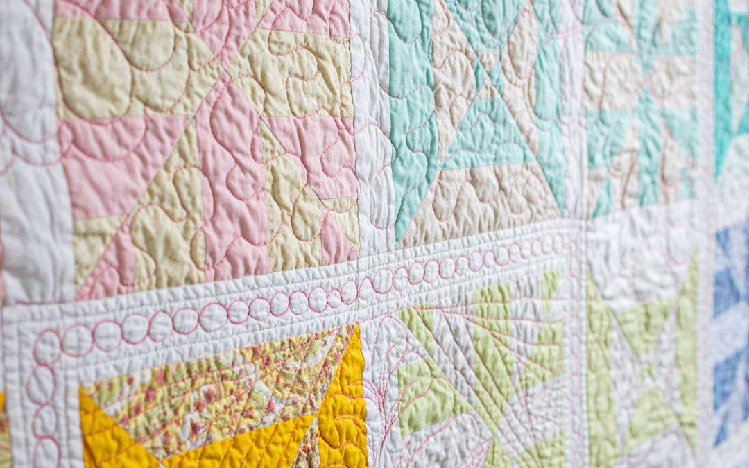 Regenboogquilt quiltwerk - Marlies Mansveld