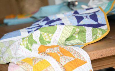 Eerst maar eens leren patchwork naaien, dat quilten uit de vrije hand komt later wel. Toch?