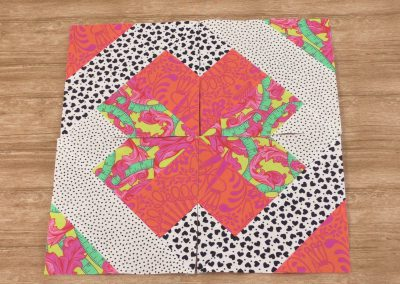 Patchworkblok Magische quilt - Marlies Mansveld Online Quiltacademie