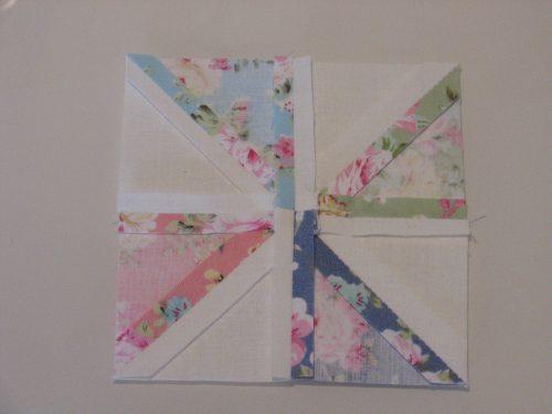 Achterkant pinwheel blok - Marlies Mansveld Quiltinspiratie