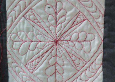 Blok 4 Quilten met linialen - Marlies Mansveld Quiltinspiratie