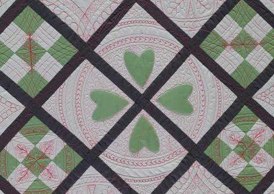 Middenstuk 3 quilt quilten met linialen - Marlies Mansveld Quiltinspiratie